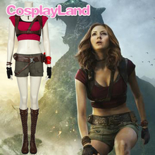 Jumanji Welcome To The Jungle Cosplay Ruby Roundhouse Costume Sexy Suit Uniform Outfit Shorts Belt Harness with Custom Boots цена