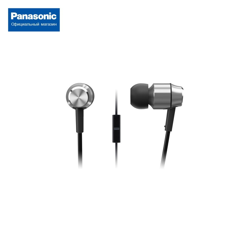 In-ear headphones with mic for Panasonic RP-HDE5MGC-S fanny wang headphones co premium luxury on ear headphones with apple integrated remote and mic