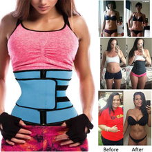 Plus Size Women Shaper Zipper Fitness Neoprene Sauna Waist Trainer Corset Slimming Belt Sweat Weight Loss Cincher Workout
