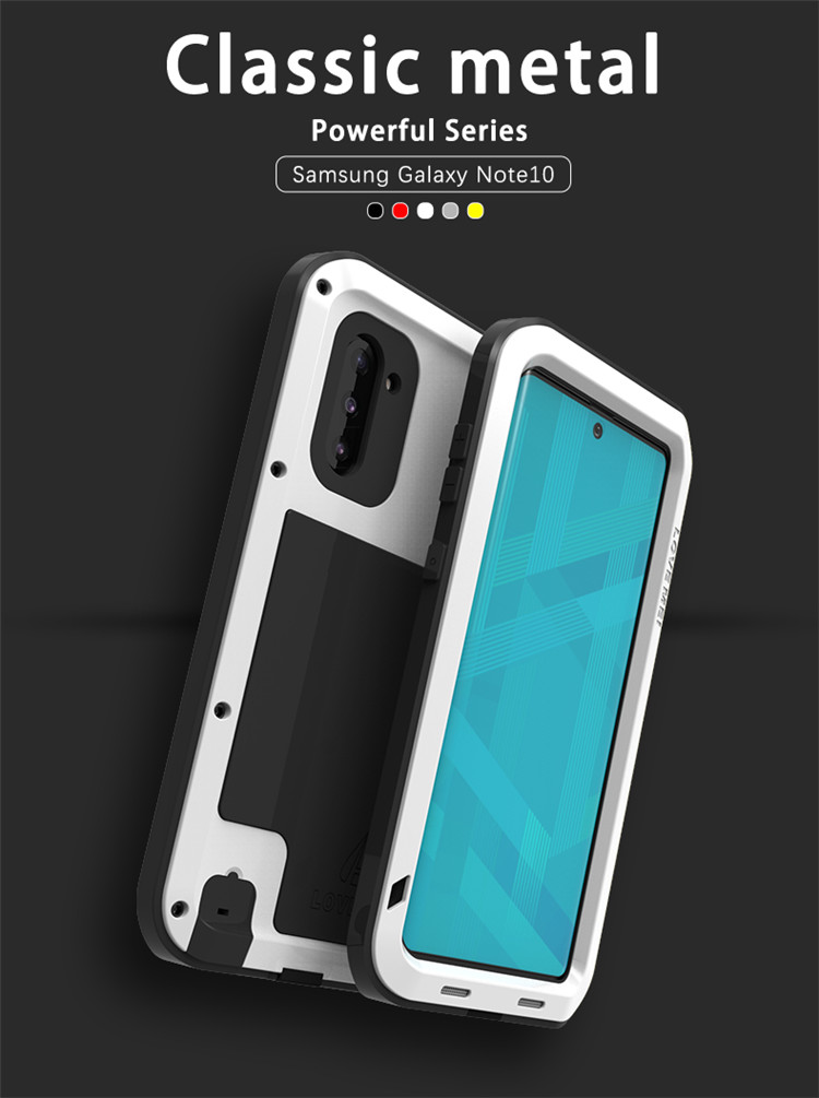Powerful-Case Case-Cover Note Metal Samsung Galaxy Love Mei 10/Galaxy Original for Shockproof