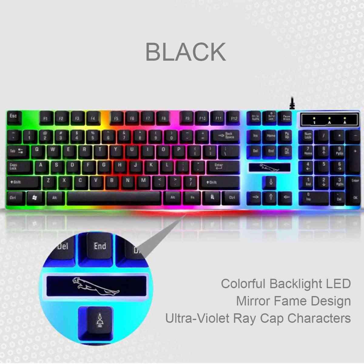 G21 104 keys Gaming Tastiera Meccanica Set Mouse USB Wired Ergonomica RGB Retroilluminazione Della Tastiera Mouse Combo Per Il Computer Portatile Del PC Desktop