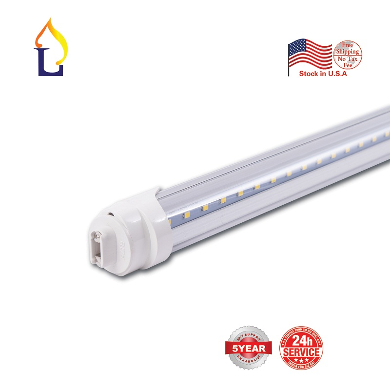 6 pcs <font><b>T8</b></font> LED <font><b>Tube</b></font> Light 4ft 18W/24 with UL/ETL indoor Strip Light Replace Fluorescent Light Household Lamp <font><b>Bracket</b></font> Installation image