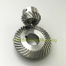 1Set Milling Machine Lifting Gear Spiral Umbrella Type Gear For C77+ 96 For CNC Bridgeport Mill Tool