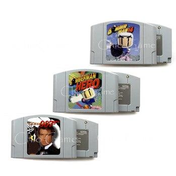 Bomberman Bomber Man Hero Goldeneye 007 Idioma Inglés para 64 bits USA/NTSC versión videojuego cartucho consola