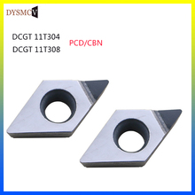 2pcs PCD CBN Diamond Inserts DCMT070204 DCMT070202 DCMT11T304 DCGT070204 DCGT11T304 CNC Lathe Turning Cutter Blade Tool