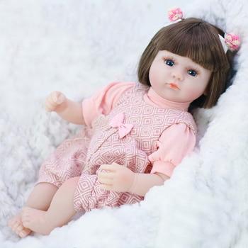 Reborn Baby 42CM Soft Silicone Reborn Baby Doll Adorable Lifelike Toddler Bonecas Girl Children Silicone Birthday Gift Toys