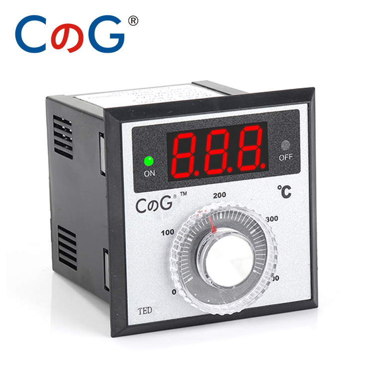CG TED Knob 0-100 200 300 400 600 Degree K PT100 Type AC220V Electronic Digital Thermostat Powered 380V Temperature Controller