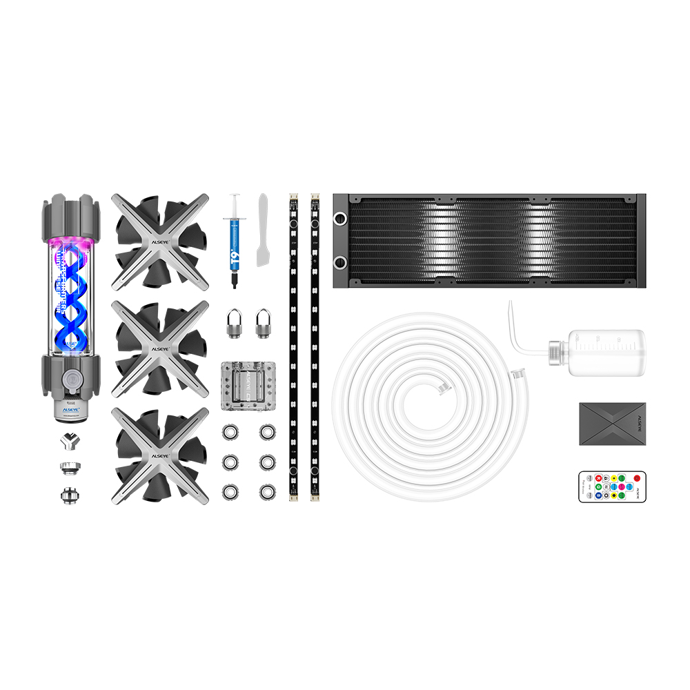 Image 3 - ALSEYE XTREME PC Case DIY Water Coolling 360mm Adjustable RGB ASUS Sync Gigabyte RGB FUSION Support LGA 115x/AM2/AM3/AM4Fans & Cooling   -