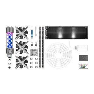 Image 3 - ALSEYE coque de PC XTREME, refroidissement à eau à monter soi même, réglable, 360mm, RGB, ASUS, synchronisation Gigabyte et FUSION, compatible LGA 115x/AM2/AM3/AM4