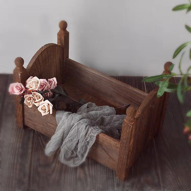 Newborn Props Photography Mini Wood Bed Detachable Wood Desk Tables Sofa Baby Photography Background Accessories Newborn Prop