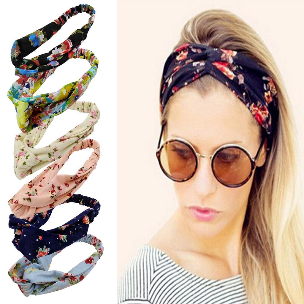 Winter 2020 Fashion Women Headband Boho Floal Style Criss SsHead Wrap Hair Band Dropshipping Ins Wind Fashion Style Selling