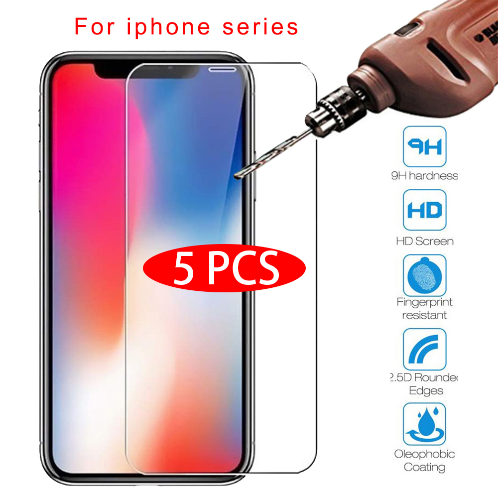 Protective Tempered Glass For Iphone 7 6 6s 8 Plus 11 Pro XS Max XR Glass Iphone 7 X Xr Screen Protector Glass On Iphone 7 6S 8