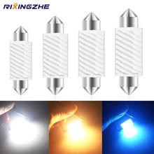 10pc festoon12-24V c5w led c10w 31/36/39/41mm livre de erros leitura interior lâmpadas de folga lâmpada placa auto branco iceblue