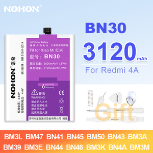 Image 1 - Nohon BN30 بطارية ل Xiaomi Redmi ملاحظة 4 4A BM47 BN41 BN45 BM50 BM3E BN44 BN46 BM3K BN4A BM3M BN43 BM3A BM39 BM3L ل مي 9