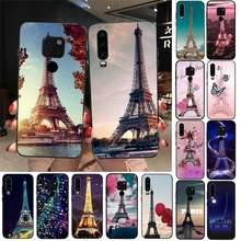 Aşk Paris eyfel kulesi fransa telefon kılıfı için Huawei onur 7A 8X 9 10 20 lite 10i 20i 7C 8C 5A 8A onur oynamak 9X pro Mate 20 lite