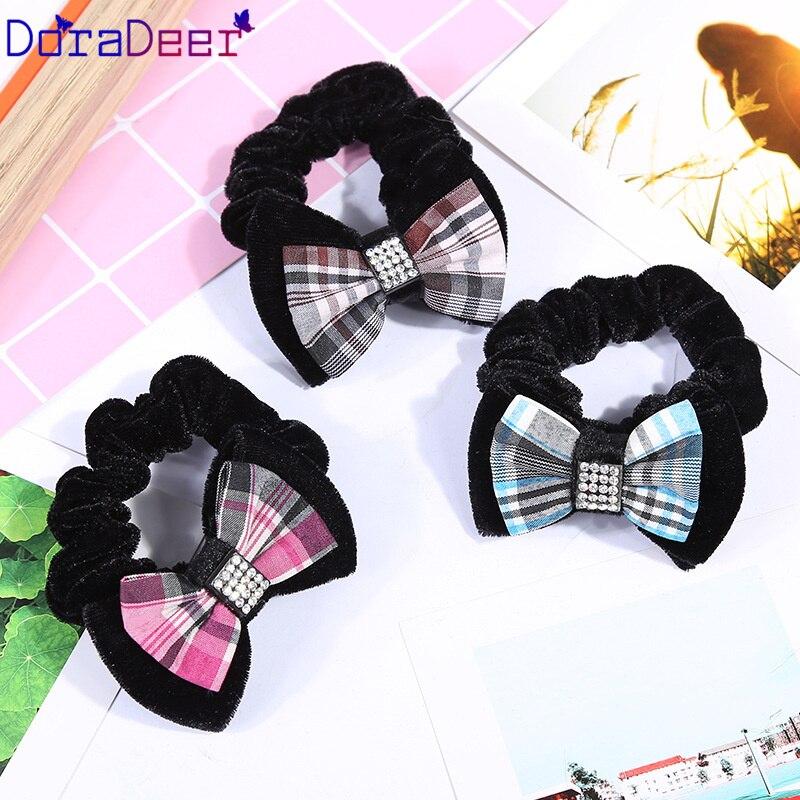 DoraDeer резинка для волос в клеточку для девочек; аксессуары для волос Для женщин платье-пачка с бантом одежда для купания для девочек;