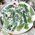 40 шт./лот Декоративные наклейки для цветов, листьев, растений, скрапбукинга