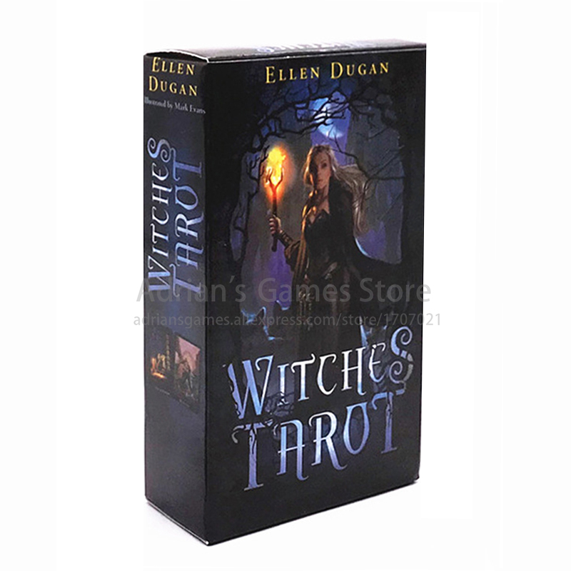 Witches Tarot 78 Cards 10.5*6cm Witch Tarots Card Deck English Edition