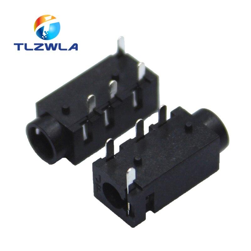 10PCS DIP PJ320A 3.5MM Headphone Audio Socket PJ-320A PJ320 PJ-320 4 Pins Audio Interface