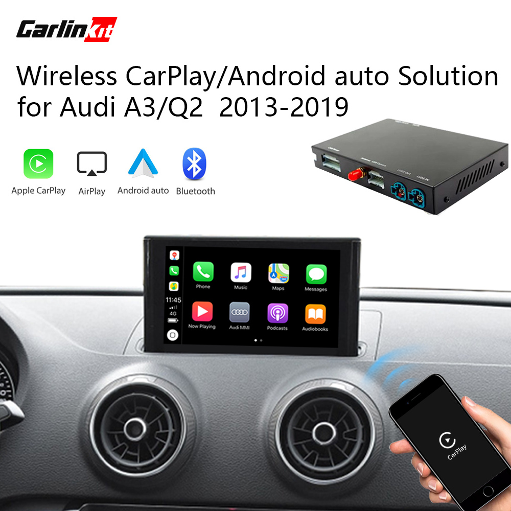 2020 Carlinkit Wireless CarPlay Android auto Retrofit Kit for Audi A3/Q2 3G/3G+ 2013-2019 iOS&Reverse Image Solution image
