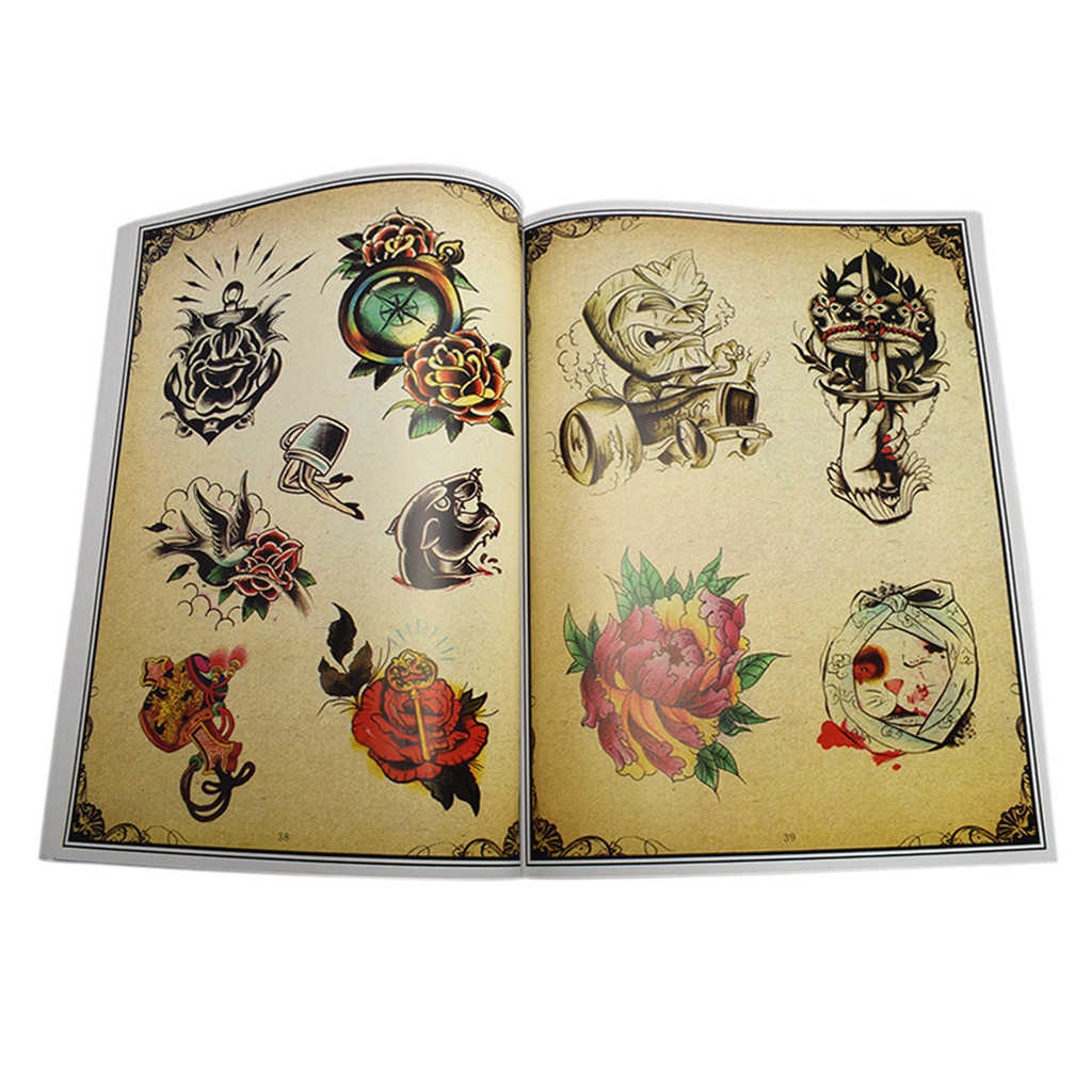 Bloem Decoratie Ontwerp Schets Flash Boek Tattoo Art Supplies