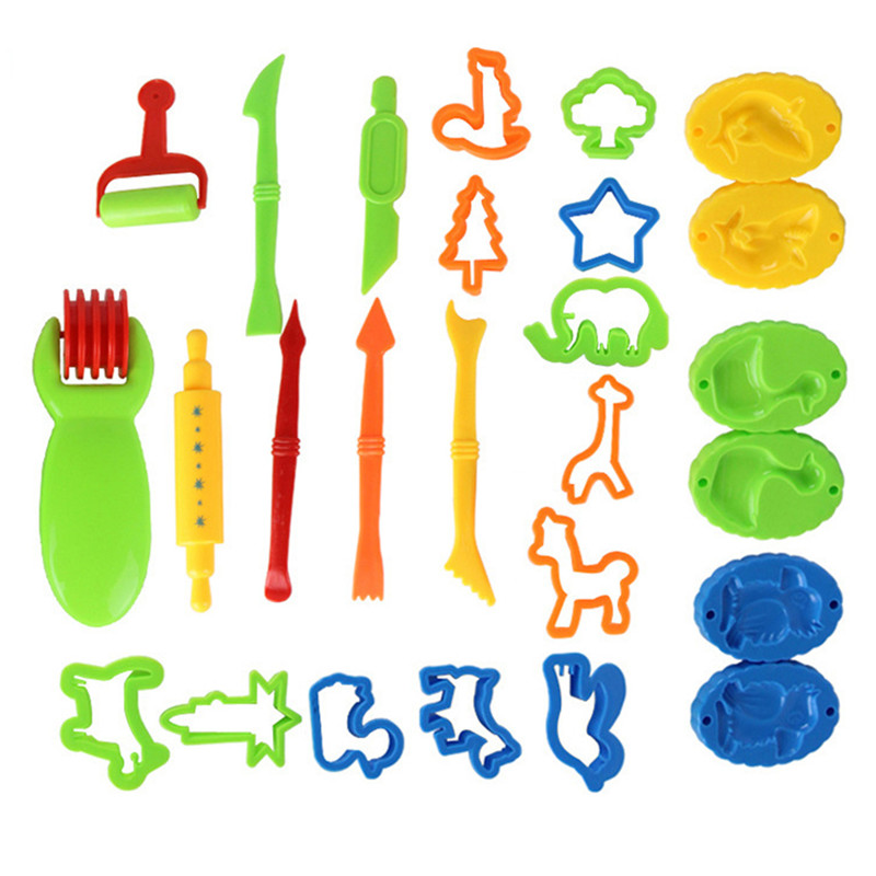 1Set Colorful Modeling Plasticine Clay Kit Plastic Play Dough Tools Set Kids Educational Toy Slime Toys For Children Toys
