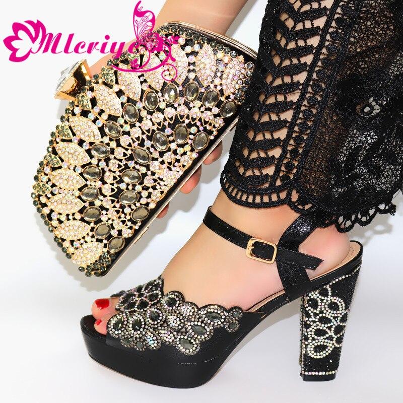 Haute qualité couleur noire chaussures de Designer africain et sac ensemble pour assortir les chaussures de fête italiennes avec des sacs assortis ensemble livraison gratuite