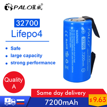 Palo new 3.2V 32700 7200mAh LiFePO4 Battery 35A Continuous Discharge Maximum 55A High power battery+Nickel sheets