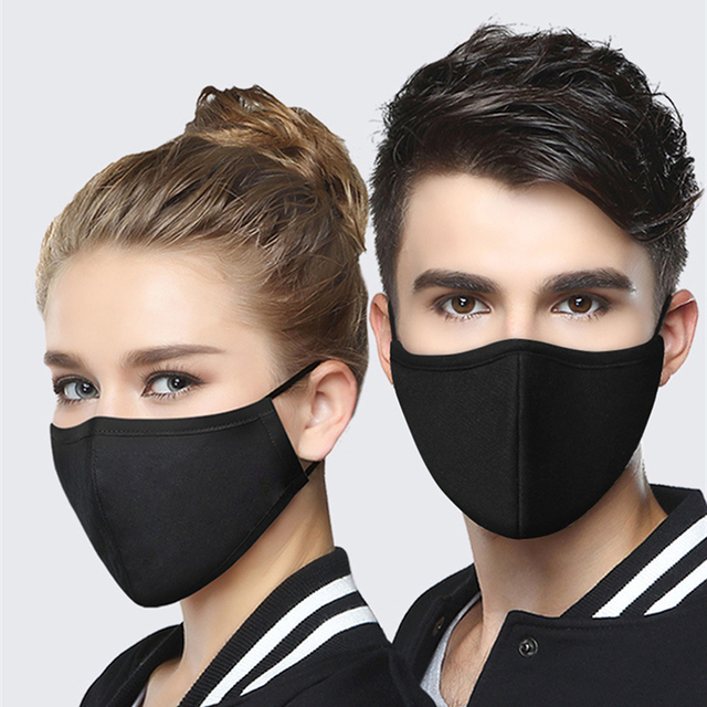 Reusable Anti Pollution Sponge Face Mask Black Breathable Mouth Mask Washable Muffle Face Mouth Mask Flu Dust Respirator Masks 1