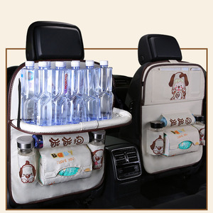 Image 3 - Cartoon Multi Pocket Car Seat Back Hanging Organizer Universal Auto Pad Cup Storage Holder Bag Car styling Protector Accessories