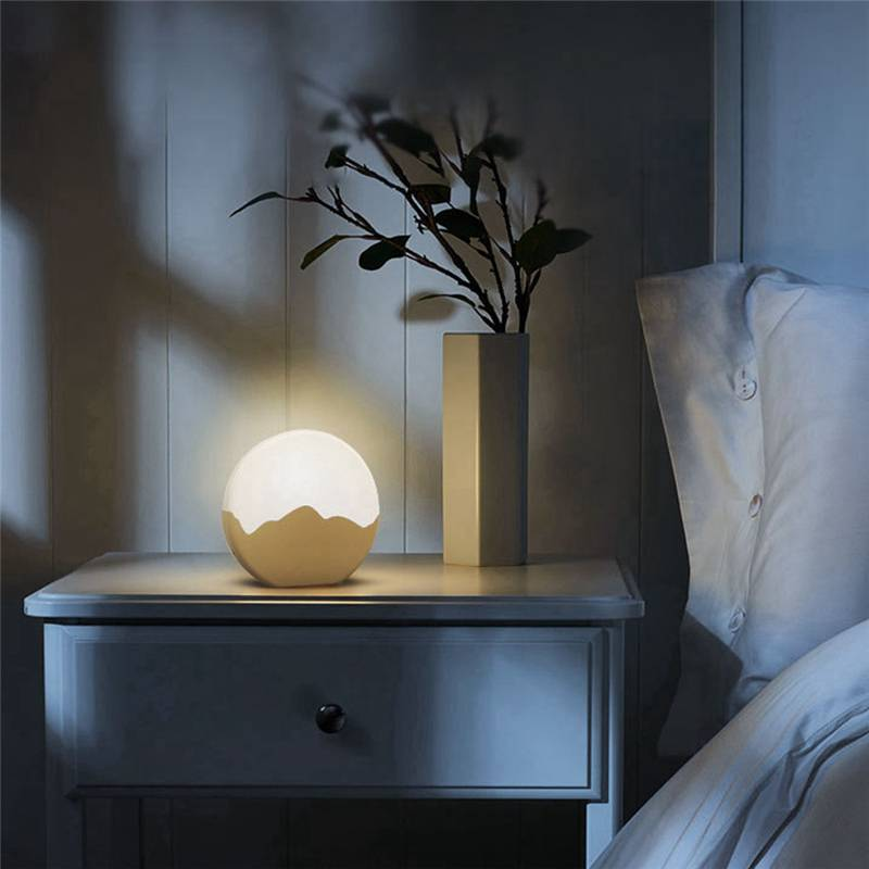 LED Moon Night Light USB Rechargeable Tap Control Dimming Table Bedside Lamp DC5V Desk Lamp Table Wall Lantern Christmas Gift