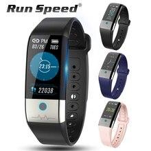 """לרוץ מהירות X1 חכם שעון אק""""ג + PPG HRV לחץ דם קצב לב צג פעילות Tracker גברים IP67 עמיד למים ספורט smartwatch"""