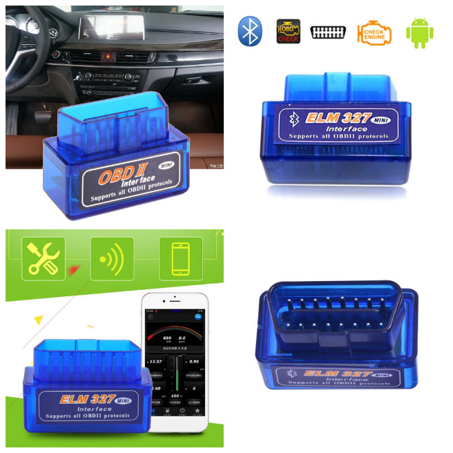 Mini ELM327 OBDII OBD2 Bluetooth Car Diagnostic Scan Tool Auto Scanner For Android Devices V2.1 V-Best