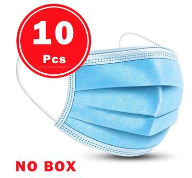Face Mask Protective Masks Anti Virus Mouth Filter& Disposable Use &Soft Breathable  Flu Hygiene Masks 3-Layer Non-woven 2