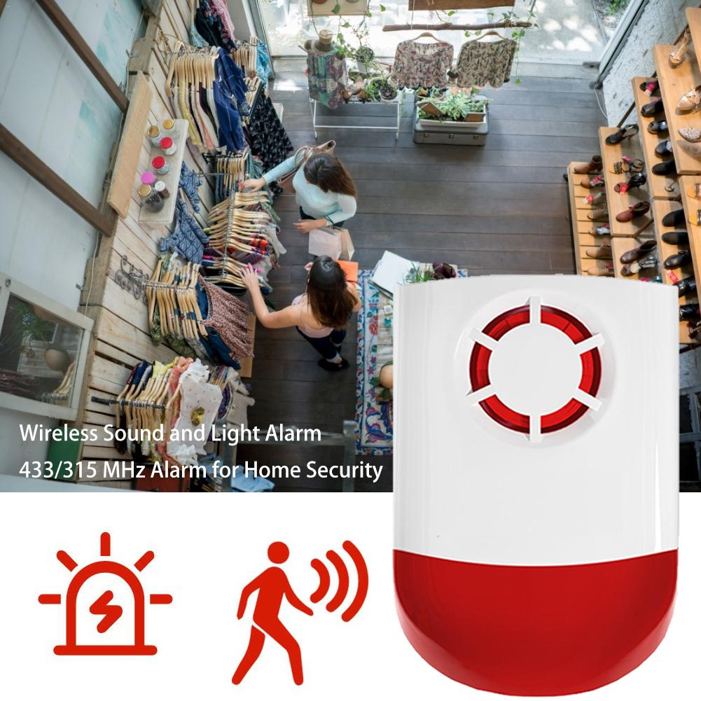 120dB Indoor Outdoor Wireless Flashing Siren Strobe Light Siren Home Alarm Security System For Offices Family Homes Etc
