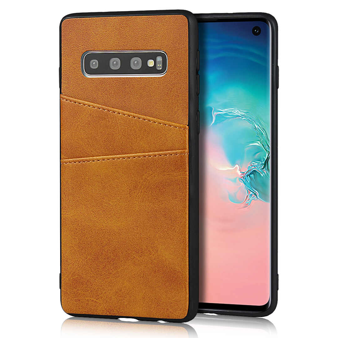 พรีเมี่ยม PU หนังกรณี Samsung S10 S9 S8 กระเป๋าสตางค์และช่องใส่การ์ดป้องกัน HOLSTER โทรศัพท์ popsocket สำหรับโทรศัพท์มือถือ
