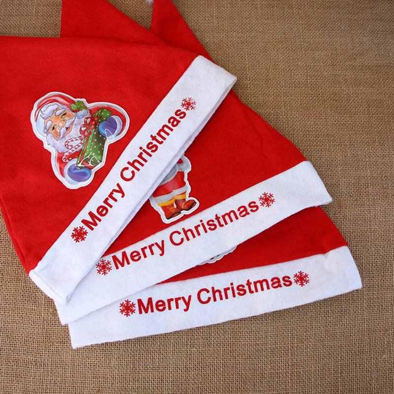 قبعة عيد الميلاد مصباح ليد الكرتون سانتا كلوز/الأيائل/ثلج عيد الميلاد قبعة للأطفال الكبار