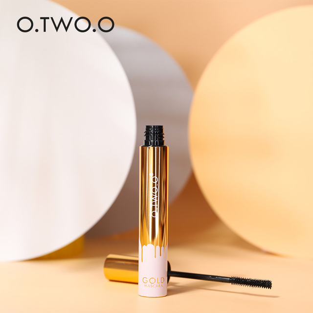 O.TWO.O 3D Mascara Lengthening Black Lash Eyelash Extension Eye Lashes Brush Beauty Makeup Long-wearing Gold Color Mascara 5