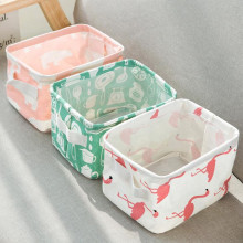 Desktop Storage Basket Sundries Underwear Toy Storage Box Cosmetic Book Organizer Portable Fabric Storage Basket Box Container