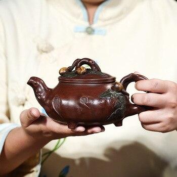 Hundred Believe Yixing Yixing Gift Really Flower Cargo Imitate Master Bottom Money Three Peach Longevity A Decoration