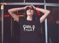 Camiseta de gira para niñas, Camiseta estampada de moletom do tumblr para mujer y niña, regalo de cumpleaños, camiseta de gira para niña K726
