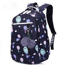 Litthing Flower Printing Korean Style Girls School Bags Children Backpacks Large Capacity Backpack Bag For Kids Mochila