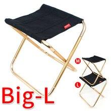 Легкий портативный складной стул из сплава для барбекю, пикника, кемпинга, рыбалки, Сверхлегкий складной стул, мебель для дома