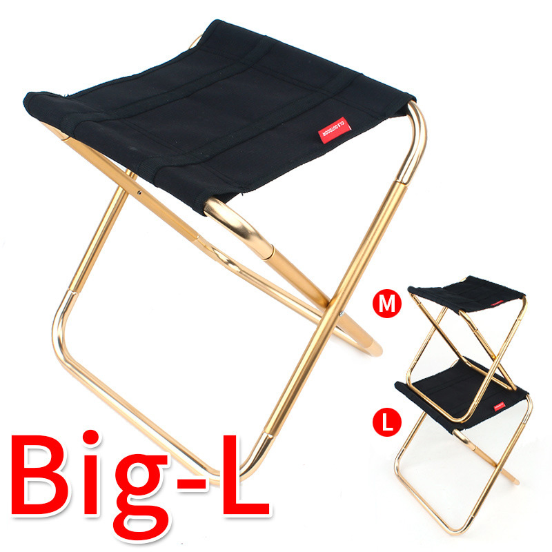 Lightweight Portable Folding Chair Alloy Outdoor BBQ Picnic Camping Fishing Stool Ultralight Collapsible Seat Home Furniture
