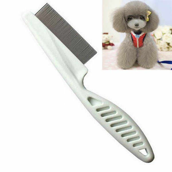 Pet Dog Hair Flea Comb Cleaning Tool Stainless Pin Puppy Cat Grooming Brush Comb
