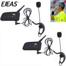 2 סט EJEAS V4C 1200M Bluetooth אוזניות אינטרקום מלא דופלקס כדורגל שופט אוזניות עם FM רדיו BT האינטרפון אוזניות