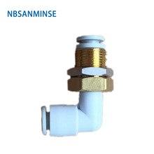 NBSANMINSE 10pcs/lot Q2LE06-00 Q2LE08-00 Pneumatic Fitting Plastic Fitting Air Fitting Elbow Fitting new original gas fitting kq2u06 00a 10pcs packs