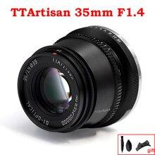 Ttartisan 35mm f1.4 APS-C lente de câmeras foco manual para fujifilm m4/3 montagem sony e leica l a7iii a6600 a6400 X-T4 X-T3 X-T30