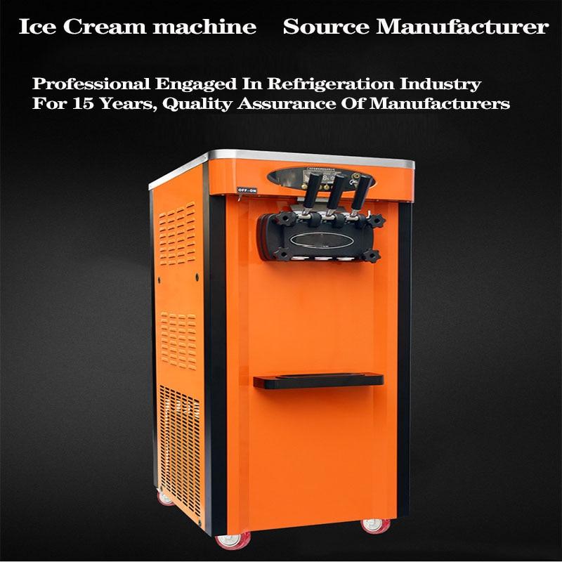 Коммерческая Вертикальная энергосберегающая машина для мороженого из нержавеющей стали с одной кнопкой