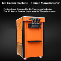 Commercial Vertical SundaevStainless Steel Energy Saving One Button Intelligent Cleaning Ice Cream Machine